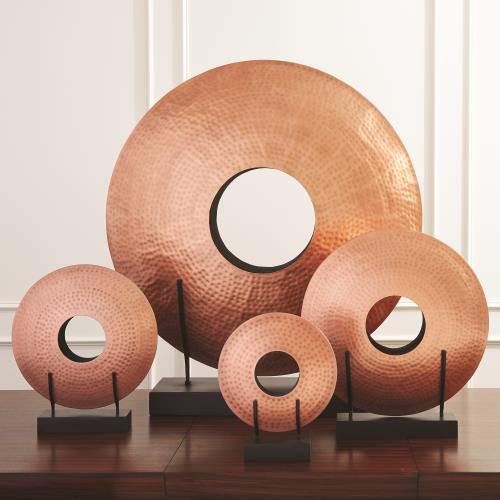 Disc Vase-Copper Plated Iron