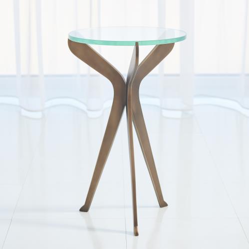 Slice Tripod Table-Light Bronze