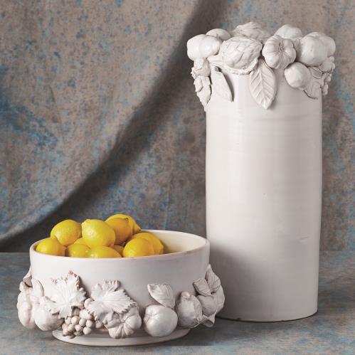 Della Robia Vase-Antique White