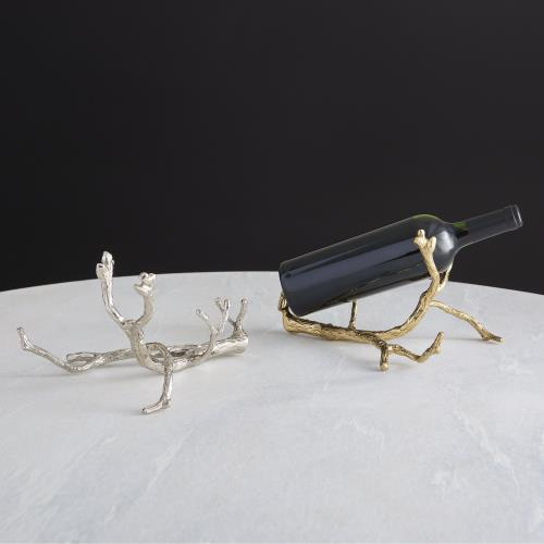 Twig Wine Bottle Holder-Brass