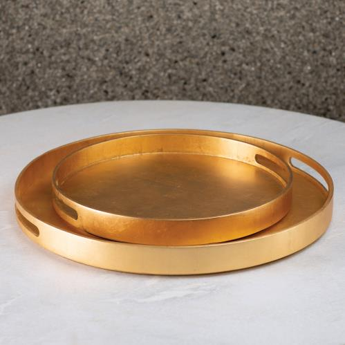 Nouveau Luxe Tray-Gold Leaf