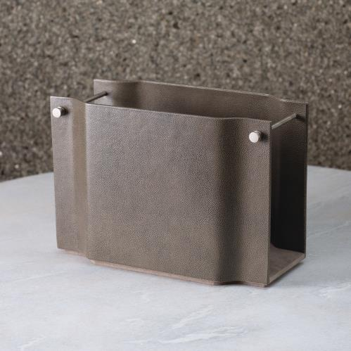 Serpentine Magazine Caddy-Grey Pebble