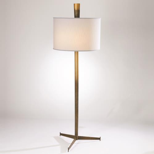 Tapered Ombre Floor Lamp-Bronze/Gold