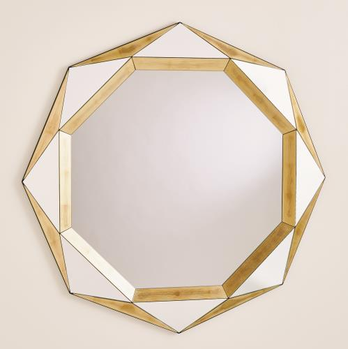 Madeleine Mirror-Gold Leaf