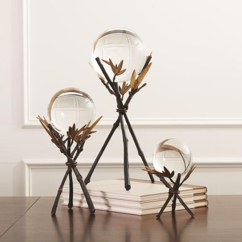 Bamboo Sphere Stand-Bronze