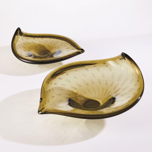 Leaf Bowl Moss w/Gold Granilla