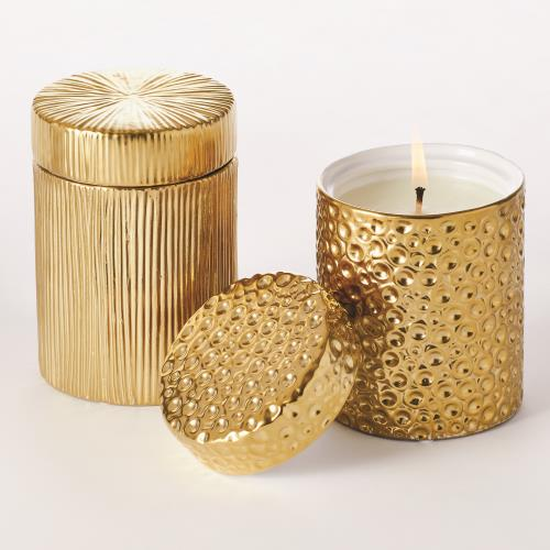 Ocean/Moonscape Jar Candles-Sandalwood Teak-Gold