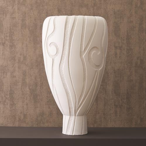 Lucca Vase - Matte White
