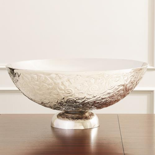 Embossed Double Wall Bowl-Nickel