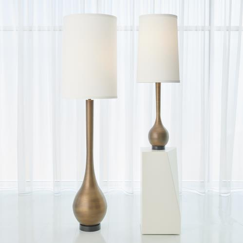 Bulb Floor Lamp-Light Bronze