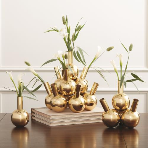 Bottle Vases-Brass