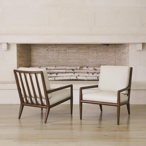 Lucas Lounge Chair-Beige Leather