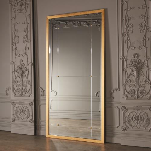 Beaumont Floor Mirror-Gold Leaf
