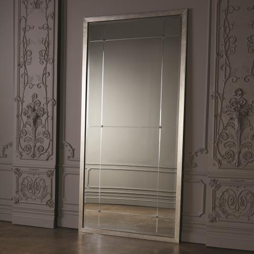 Beaumont Floor Mirror-Silver