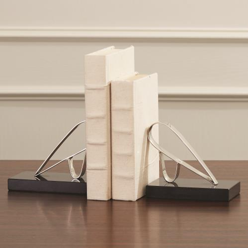 Abstract Bird Bookends-Nickel