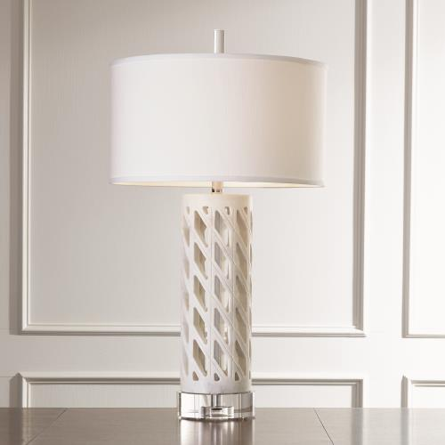Diamond Fret Lamp-White