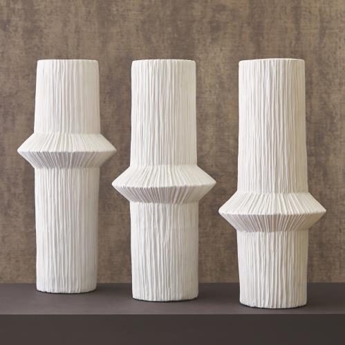 Ascending Ring Vases - Matte White
