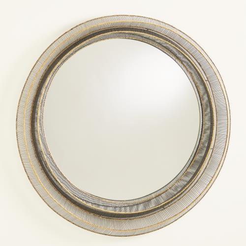 Wire Ribbon Mirror - Natural Iron/Brass Braising