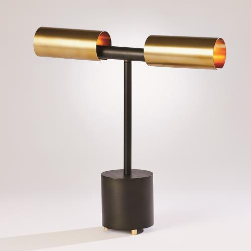 Dumbbell Desk Lamp-Bronze/Brass