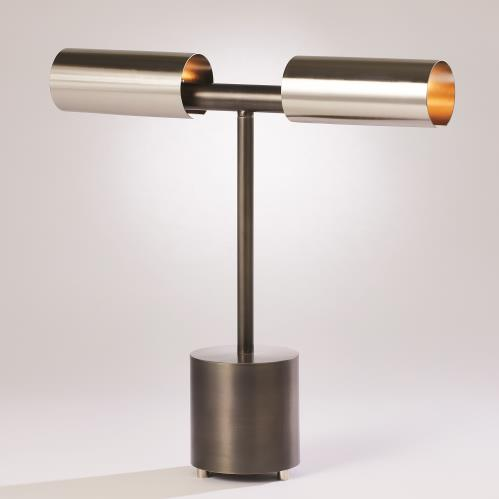 Dumbbell Desk Lamp-Zinc/Nickel