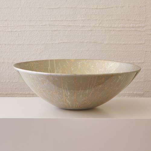 Grand Bowl - Champagne Silver Leaf