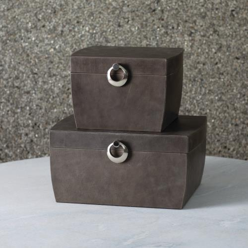 Carson Boxes - Charcoal