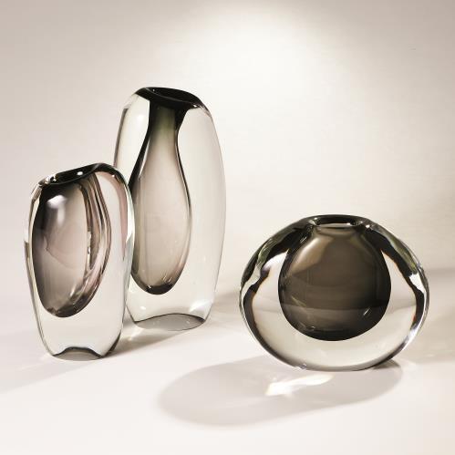 Off Set Vases - Grey