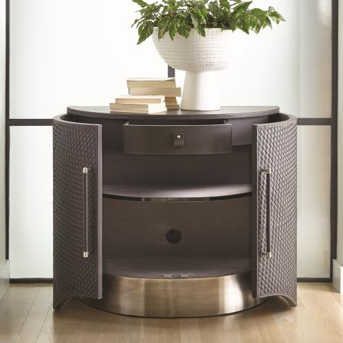 Milan Demi Lune - Charcoal Leather