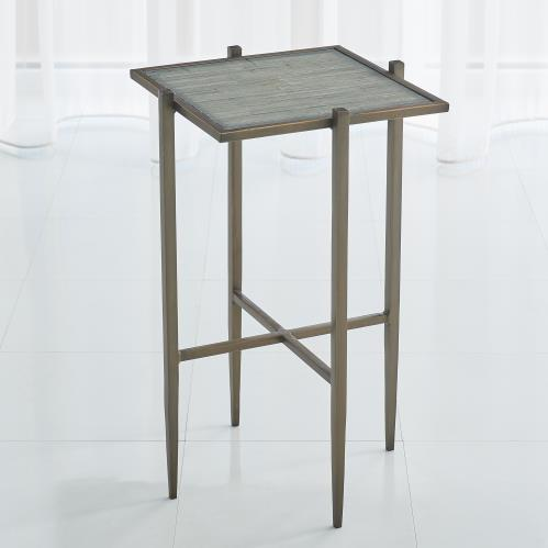 Bel Air Accent Table - Bronze/Grey Mosaic