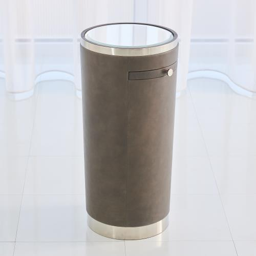 Hudson Tray Table - Nickel/Charcoal