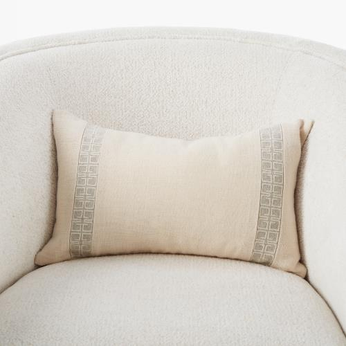 Icon Lumbar Pillow-Cream on Moonlight