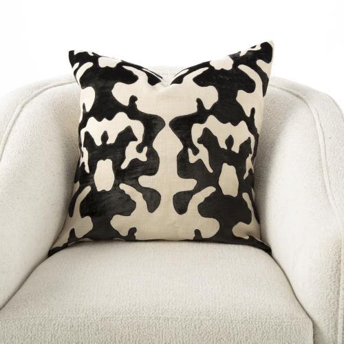 Ink Blot Pillow-Black