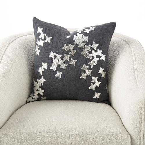 Christie Pillow-Silver/Gunmetal