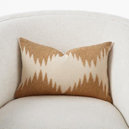 Tristan Pillow-Gold Seed Beads/Bone