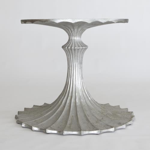 Flute Table Base-Silver Leaf-34
