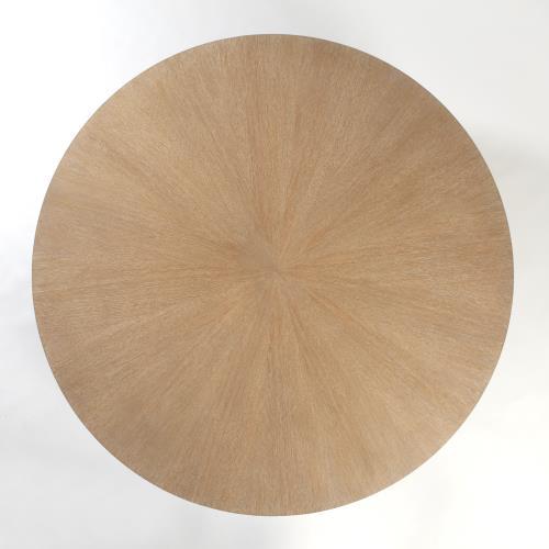 Flute Table Top-Round-Cerused Oak-60