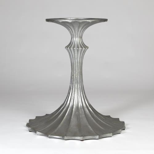 Flute Table Base-Silver Leaf-26