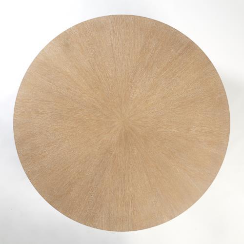 "Flute Table Top-Round-Cerused Oak-48"""