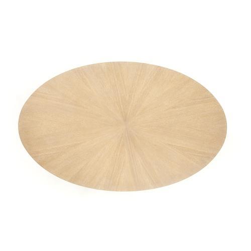 Flute Table Top-Oval-Cerused Oak-78