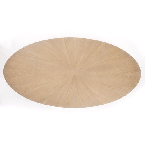 Flute Table Top-Oval-Cerused Oak-96