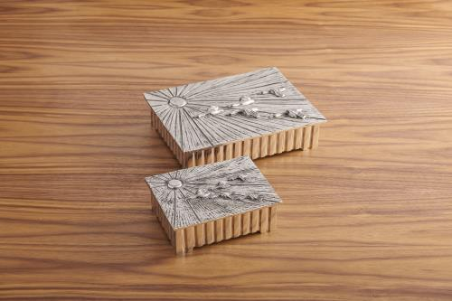 Birds in Flight Boxes-Nickel