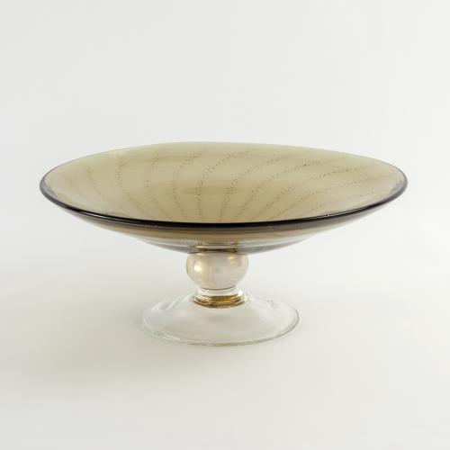 Spiral Palace Footed Bowl-Olive