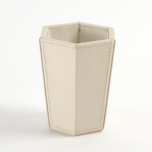 Tiffany Pencil Cup-Milk Leather