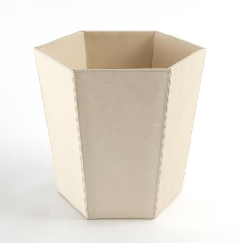 Tiffany Wastebasket-Milk Leather