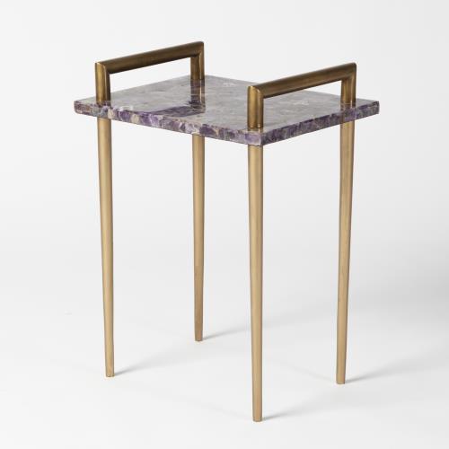 Amethyst Handlebar Side Table