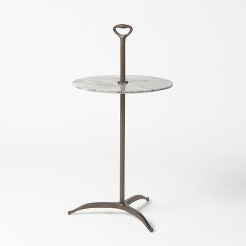 Chloe Table-Antique Brass/White Onyx Marble