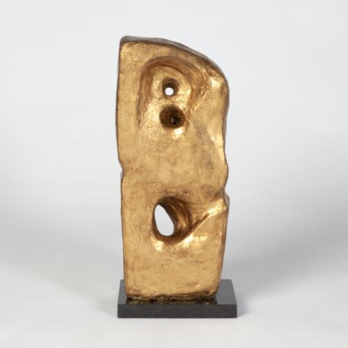 Monolith-Sculpture-Gold Leaf