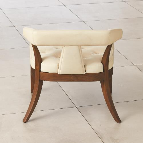 Moderno Chair - Ivory Marble Leather