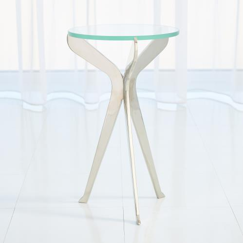 Slice Tripod Table-Nickel