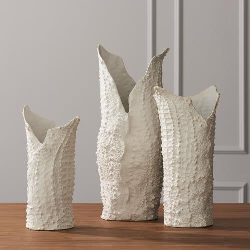 Crocodile Vases - Matte White